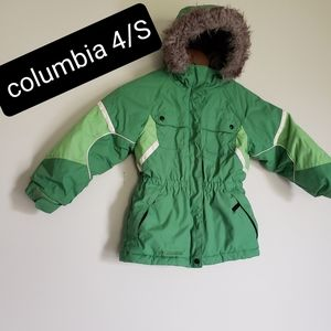Columbia kid size 4 /small winter jackets hoodie